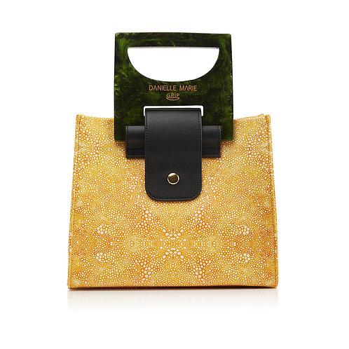 The HANNA Shopper Bag -Yellow Print