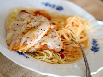 When You're In The Mood For Italian, Make  Spaghetti & Chicken Parmesan