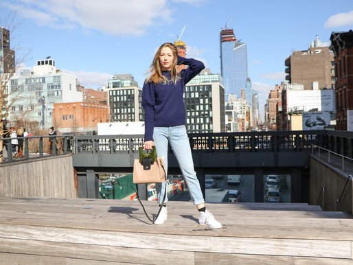 Turning heads on the High Line with the beloved HANNA shopper bag