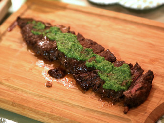Marinated Skirt Steak With Chimichurri