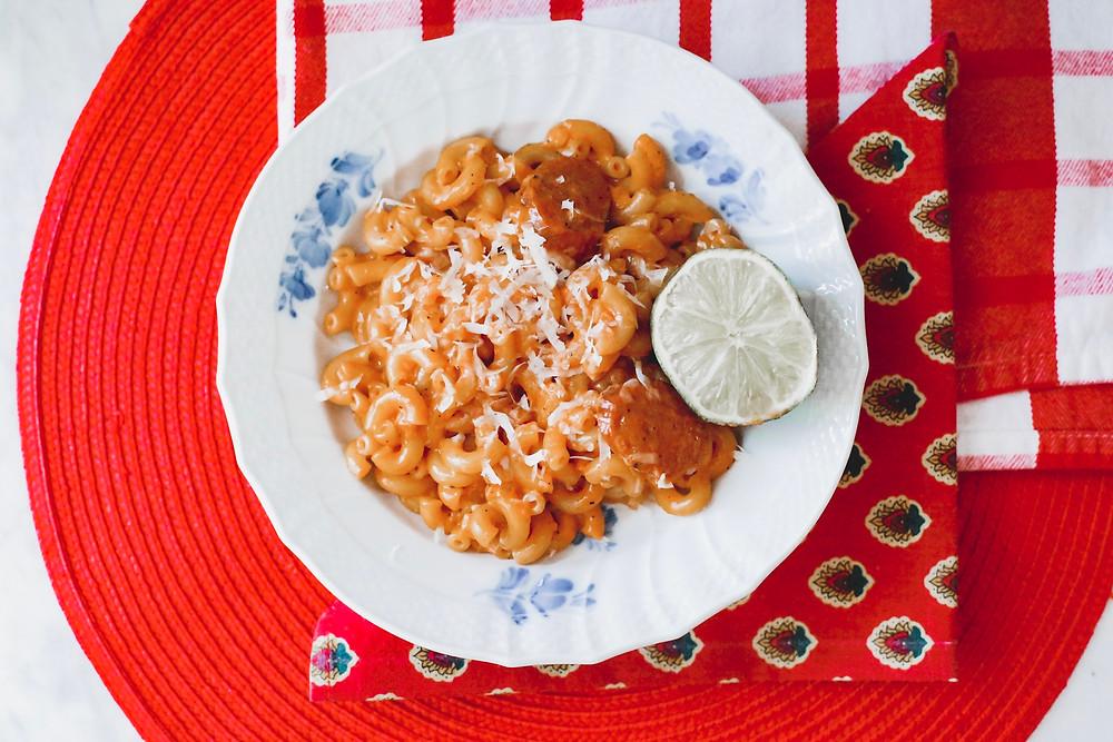 Pasta with Spicy Vodka Sauce