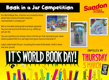 World Book Day: Book in a Jar Competition!