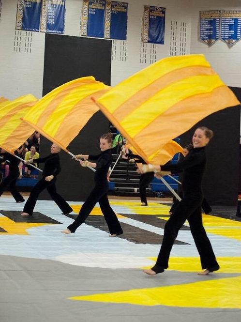 """Yellow and Orange Stripes"" Flags (set)"