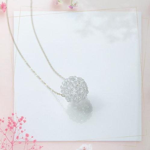 フラーレン 水晶ネックレス 14kgf