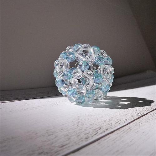 フラーレン アクアオーラ と 天然水晶 6ミリ