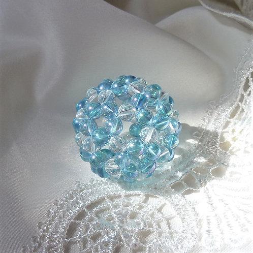 フラーレン アクアオーラ と 天然水晶6ミリ