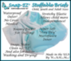 Snap-EZ stuffable briefs- information