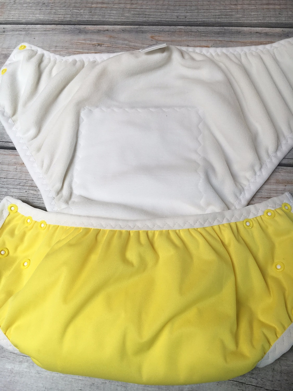 Adult Medium All in One Brief- Lemon yellow