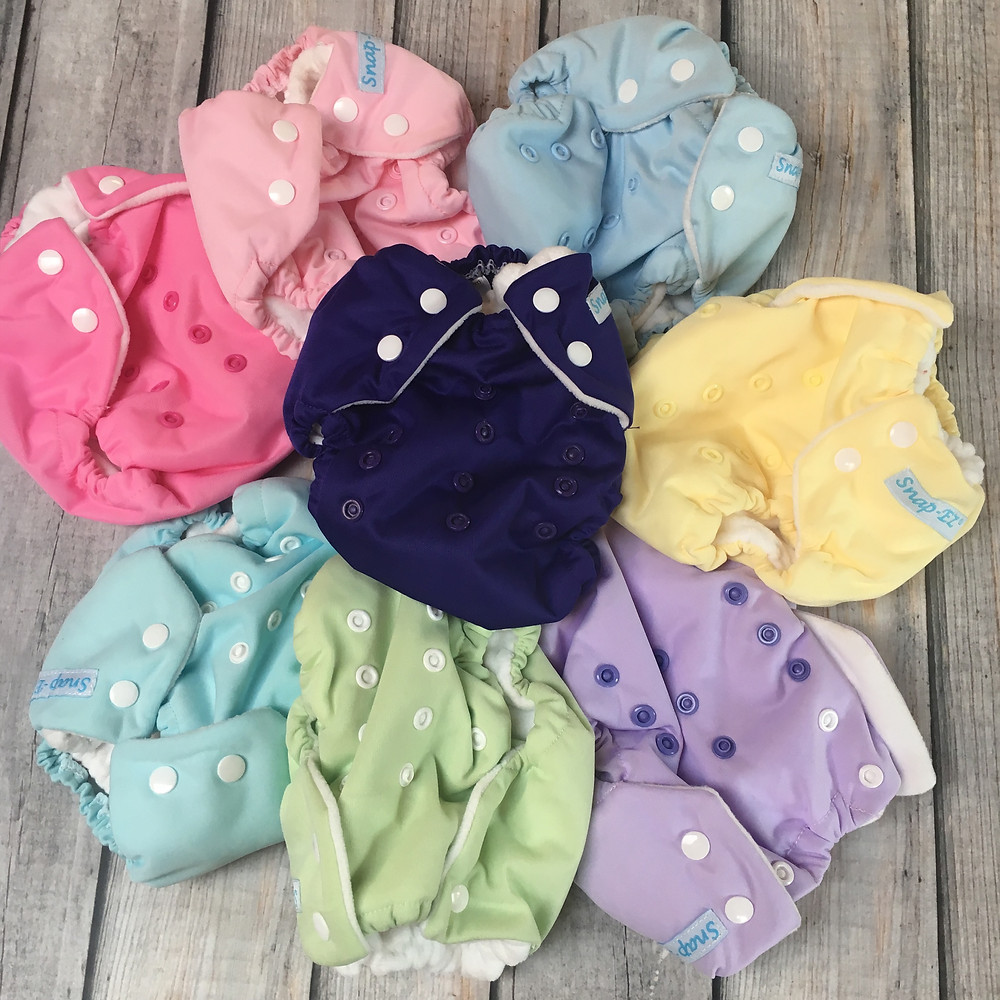 Multi-size baby pocket diapers