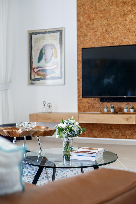עיצוב קיר טלויזיה - הדירה בנתניה