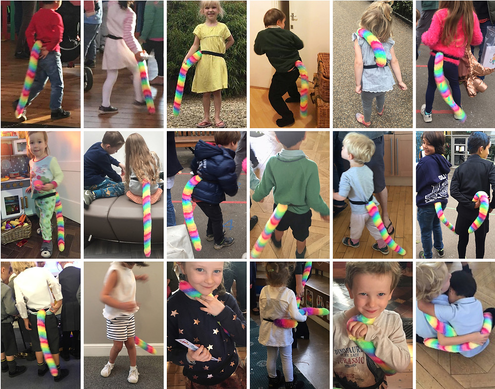 Poppy's Tail children's furry rainbow tails