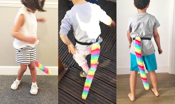 Children's Furry Rainbow Poppy's Tails