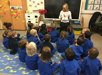 Author visit to reception class