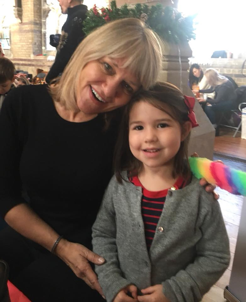 Cate Douglas with a young fan of Poppy's Tail