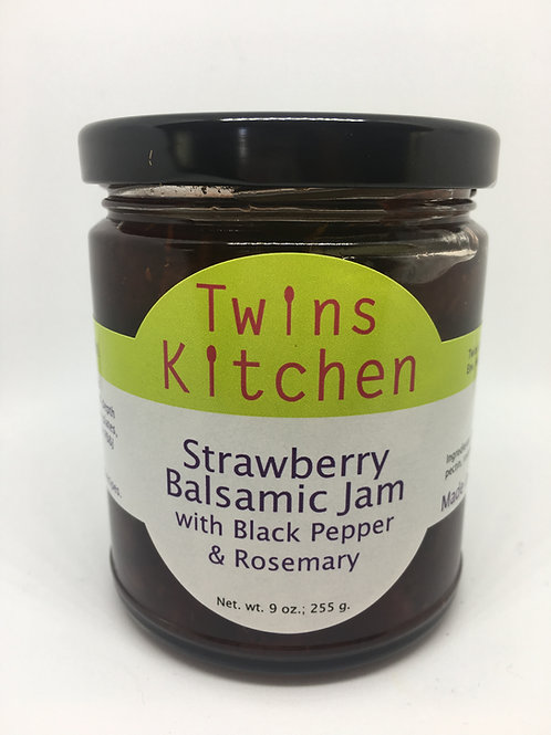 Strawberry Balsamic Jam w/ Rosemary & Black Pepper