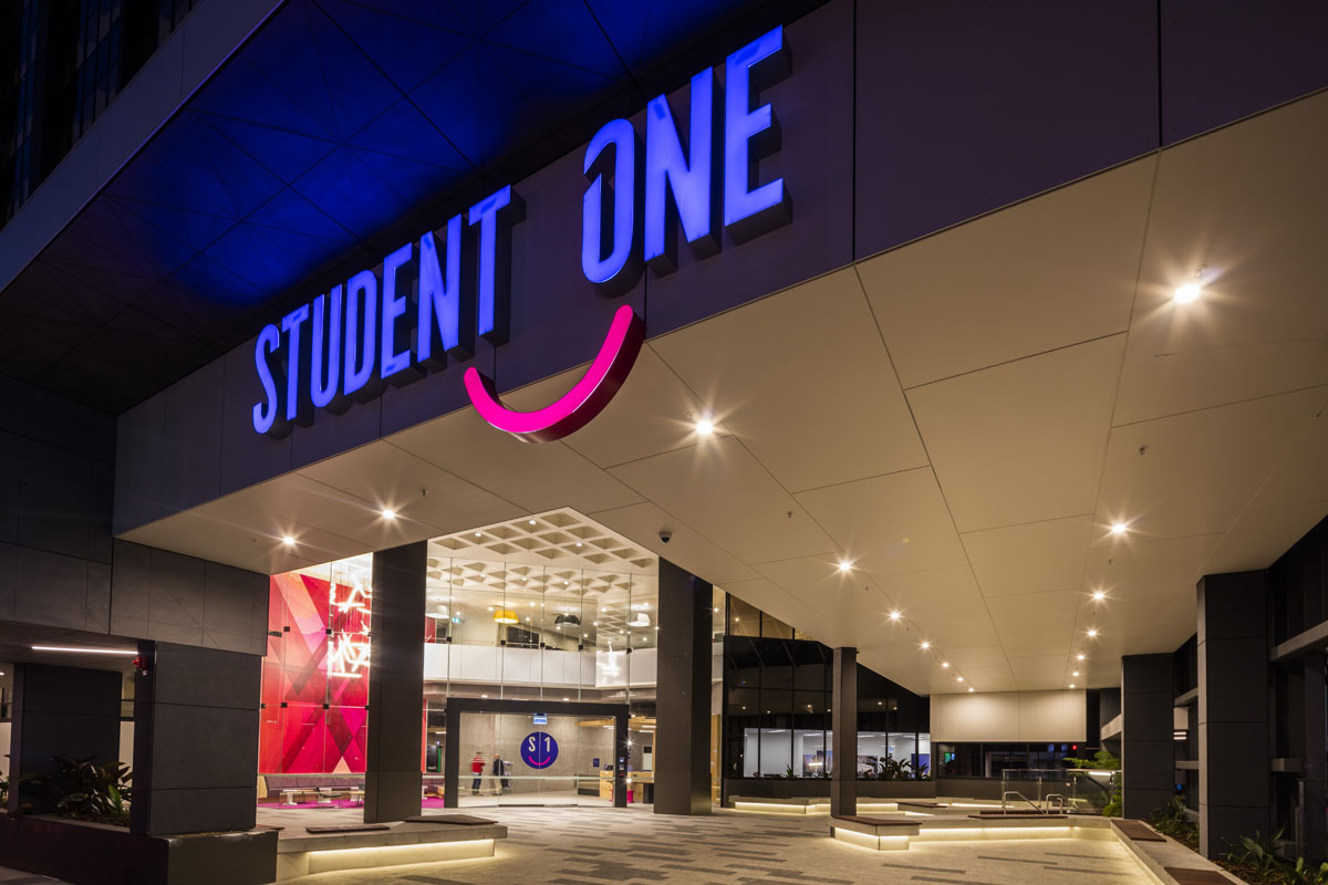 Entrance to Student One