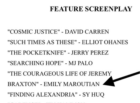 Screenplay Finalist