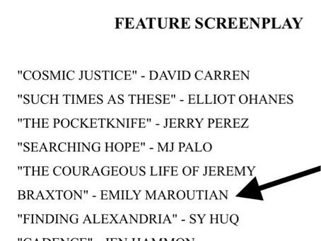Screenplay Finalist