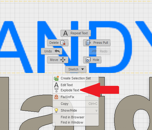 The KEY to extruding text in Fusion 360!