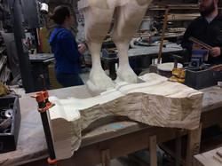 Carving legs w/ Grinder Attachement