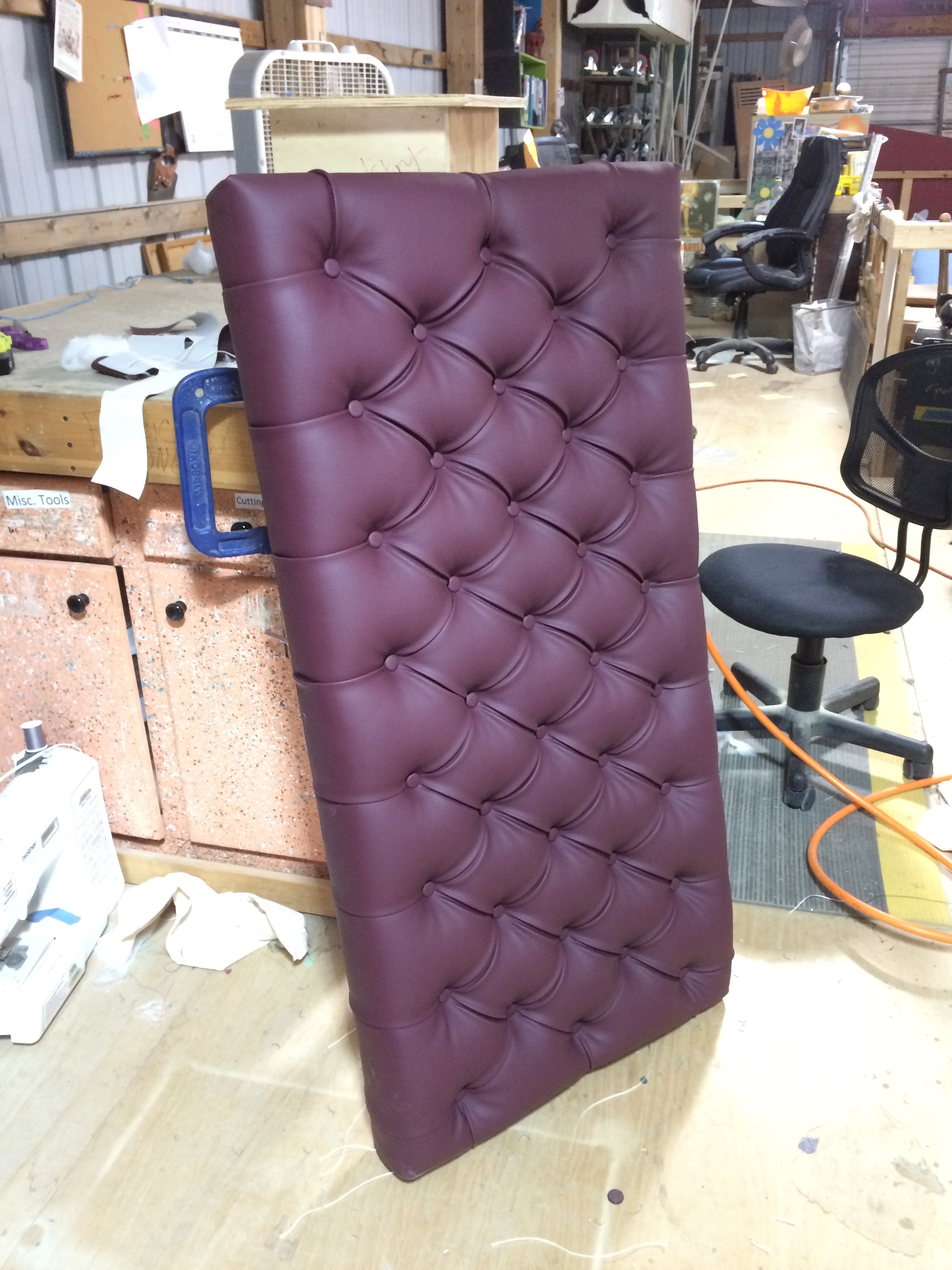 Finished Tufted Seat