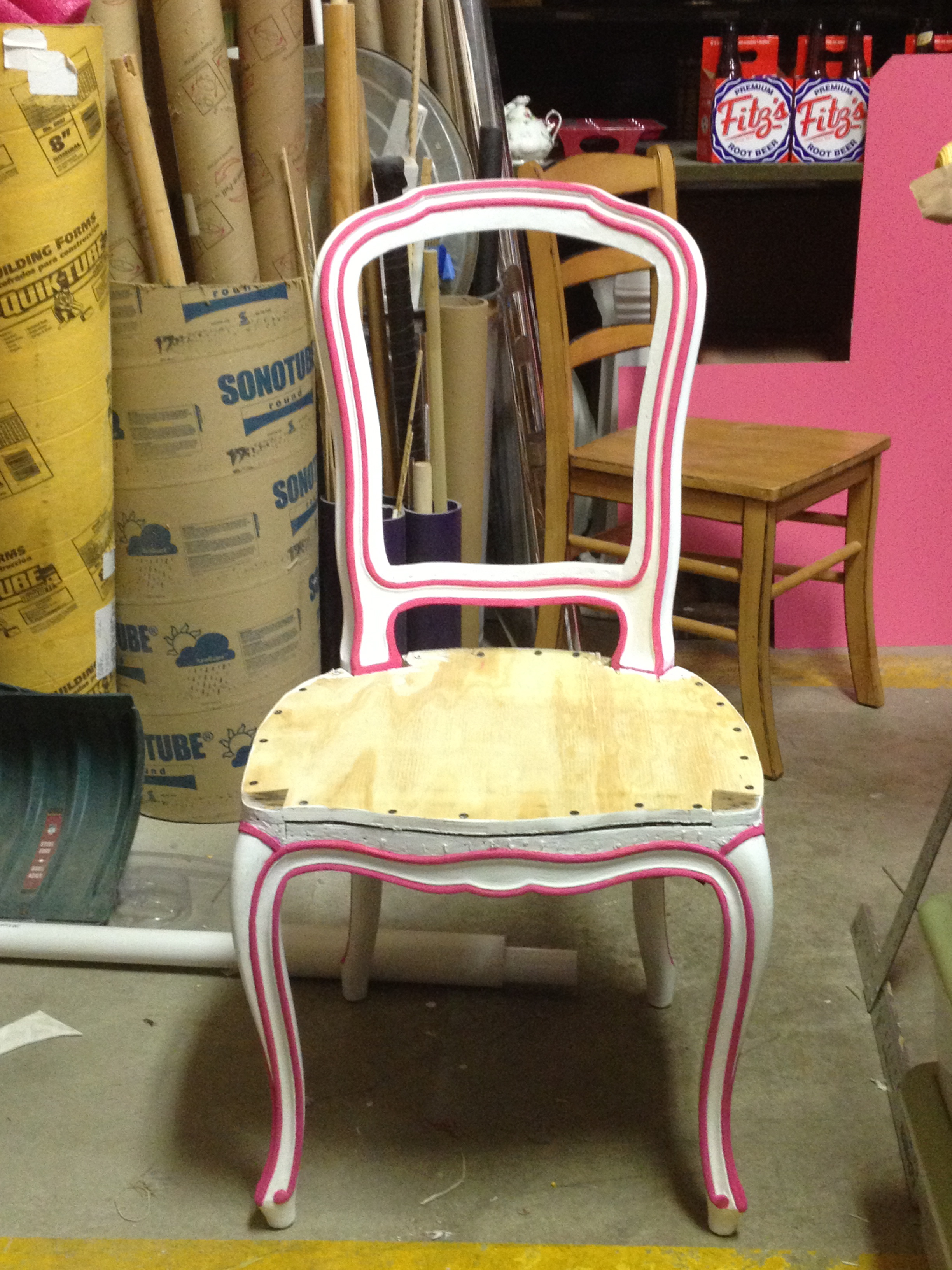 Cleaned up chair & Repainted