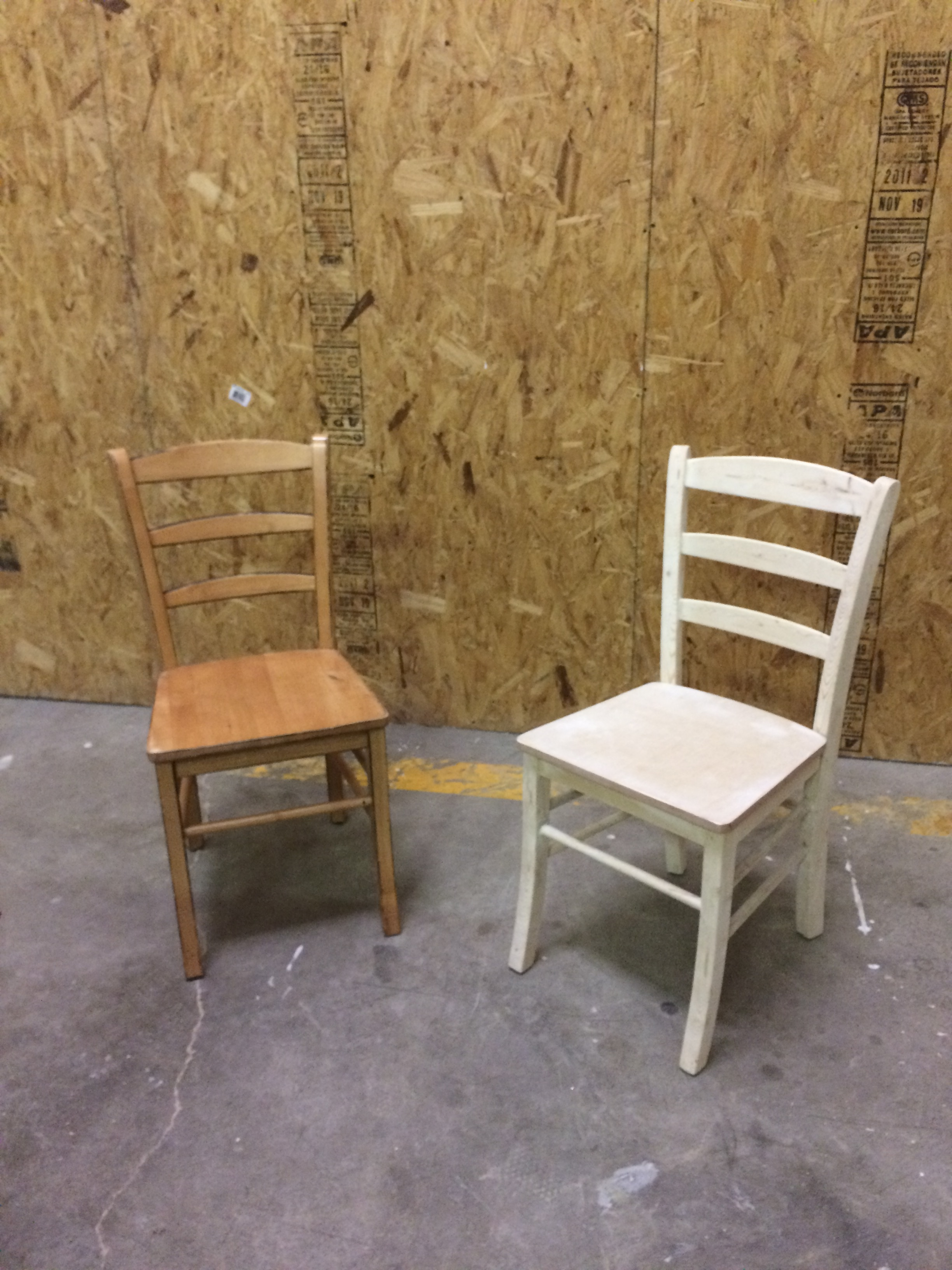 Old Chair next to New Chair