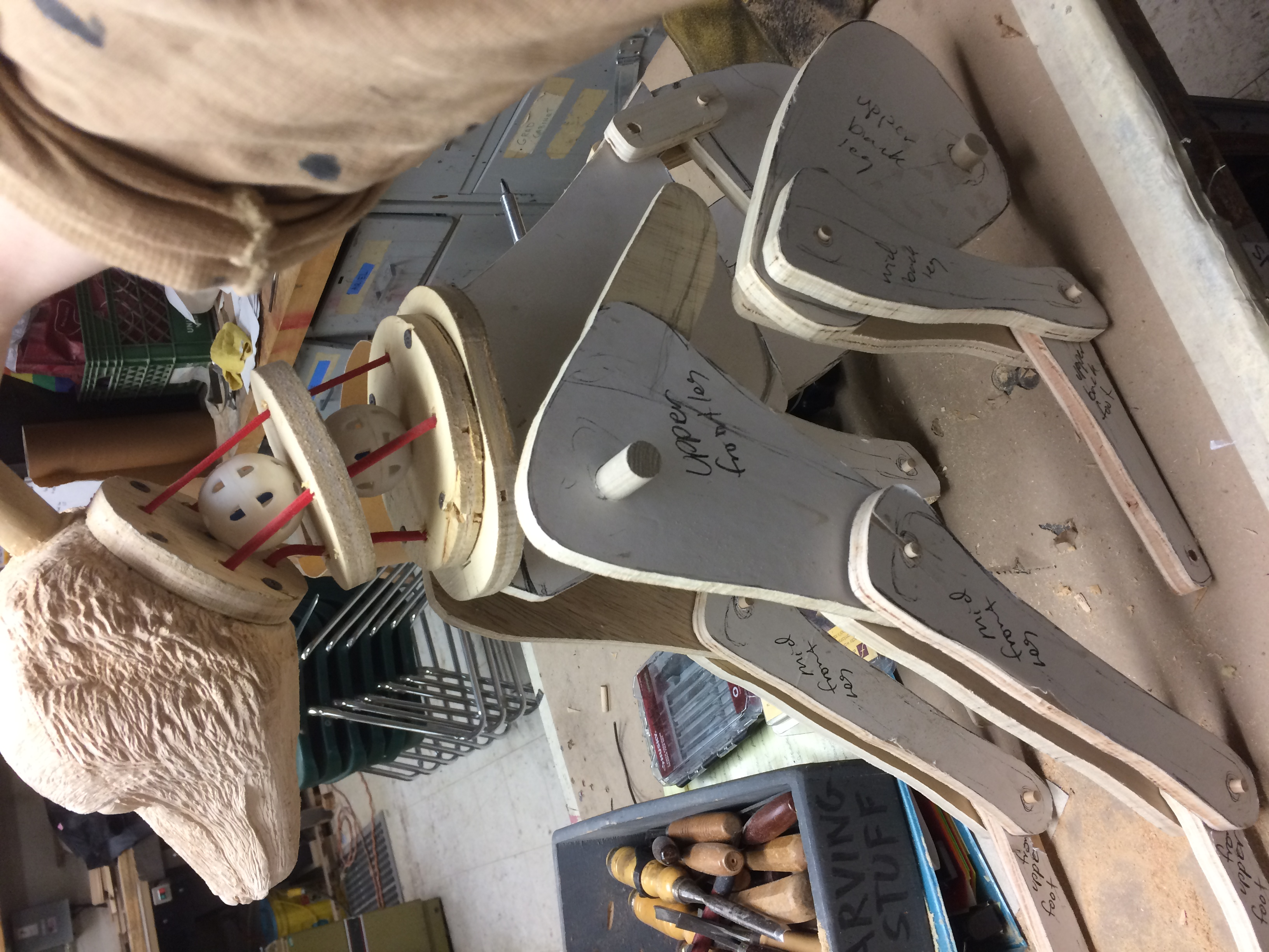 Dry fitting body pieces