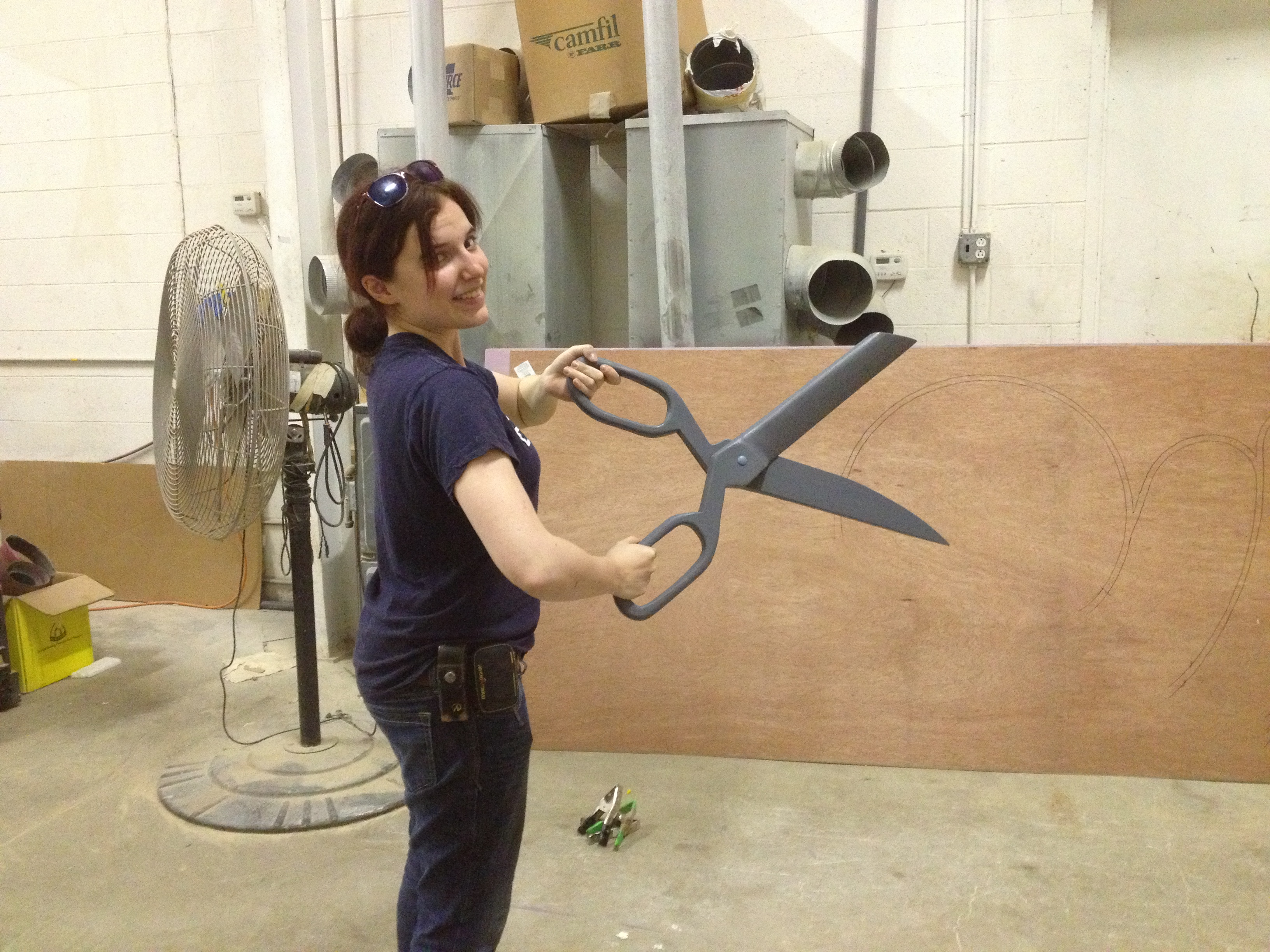 Finished Giant Scissors