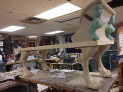 Legs attached to Base