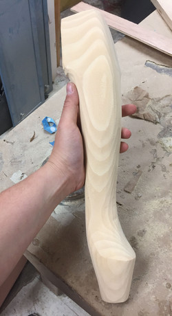 First step of the legs
