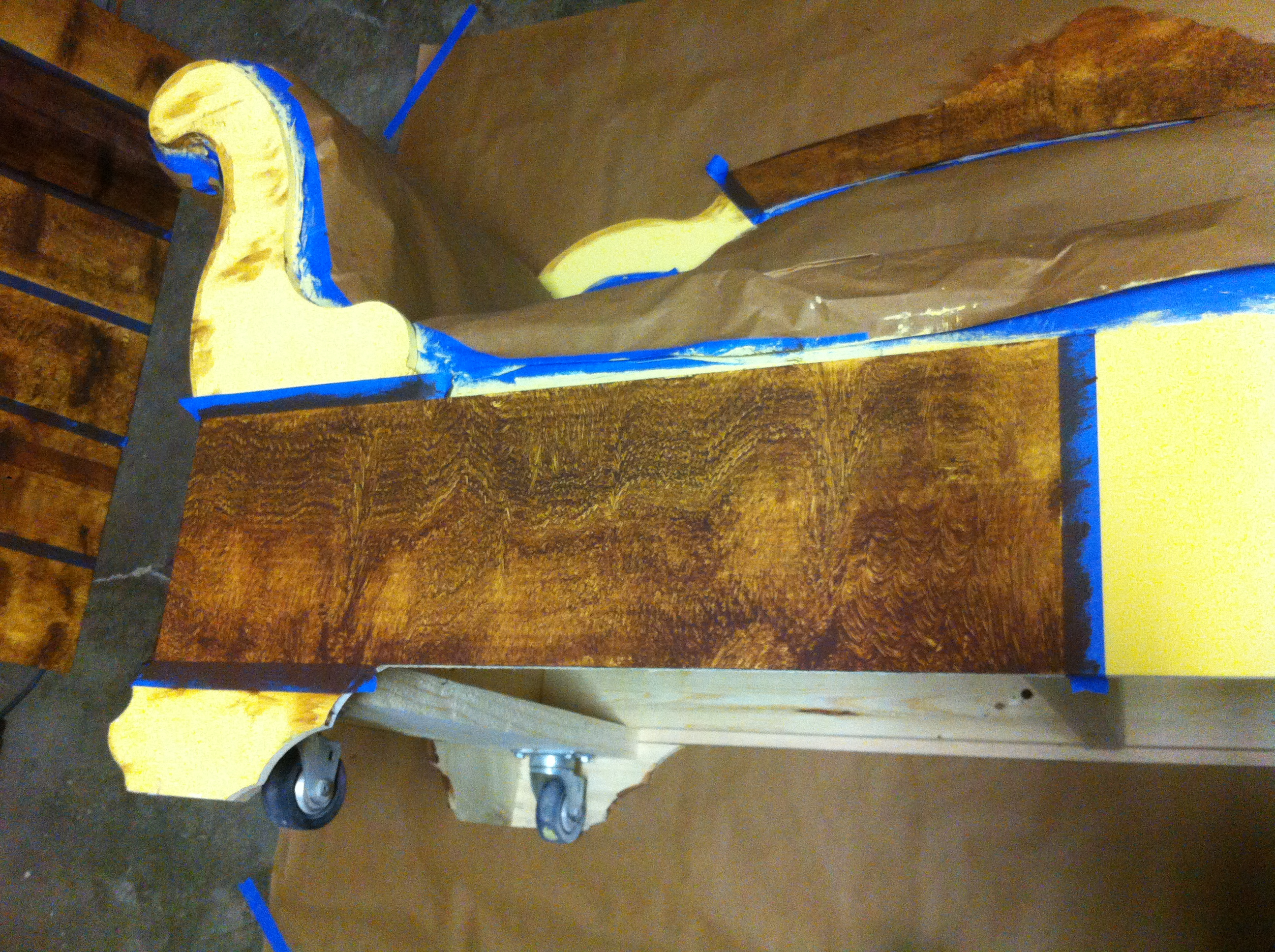 First Stages of Woodgrain