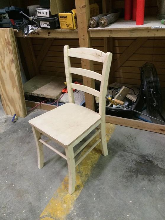 Chair gluing