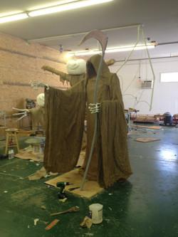 Scythe, wings, & hands installed