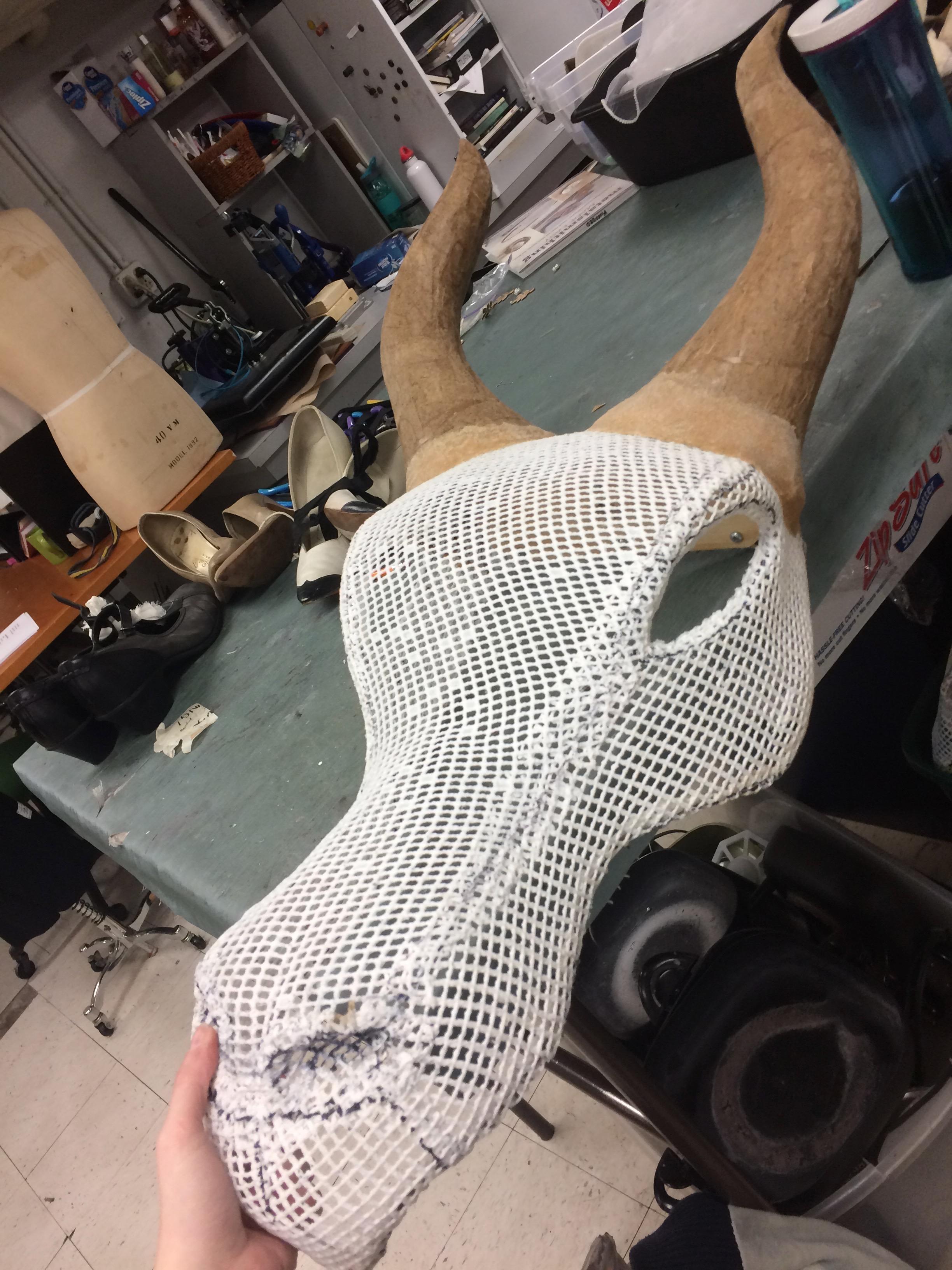 Paper mache and Worbla horns
