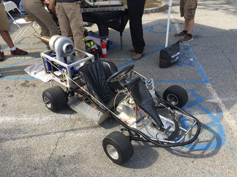 A pulse-jet propelled go-kart because...