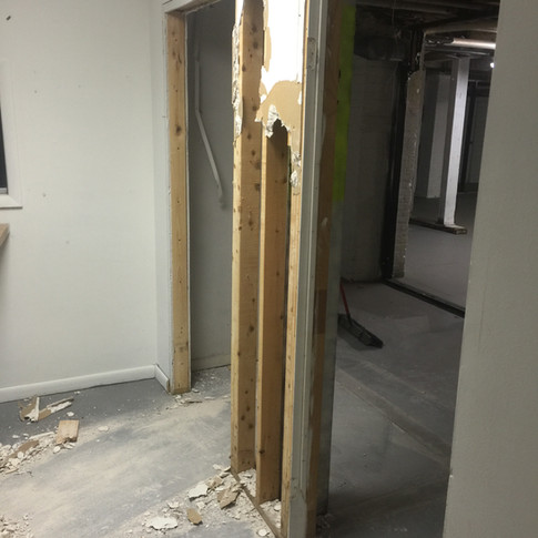 This wall's gotta go, too!