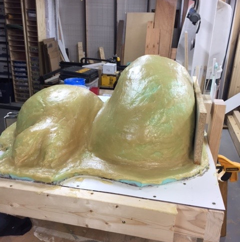 And now a rigid coat for the mold