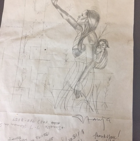 Signed Sketch of the Brush Factory Mural