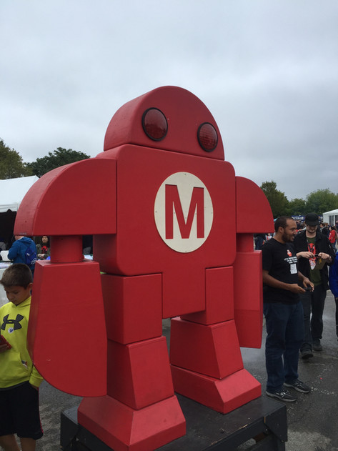 """Makey"" the official mascot of Maker Faire"