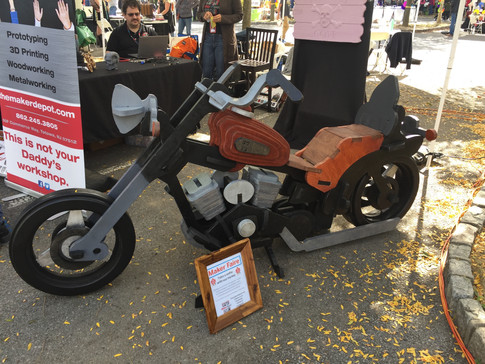 Someone made a plywood motorcycle for...