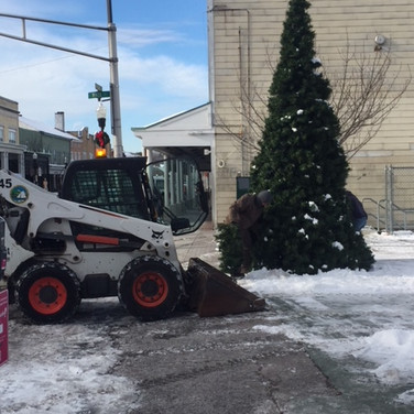Snow removal and tree relocation.