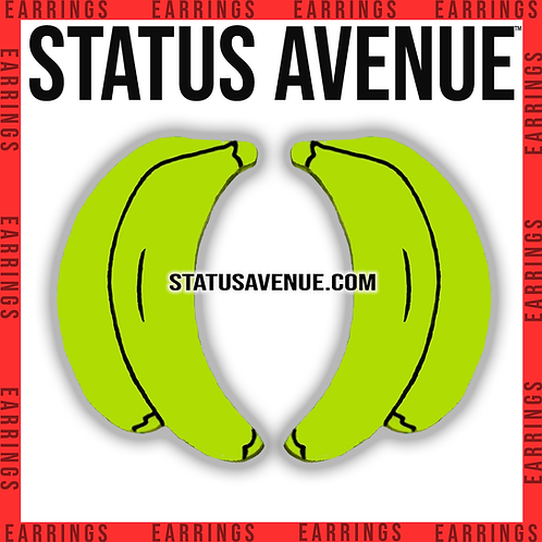 "STATUS AVENUE™ ""bananza"" earrings green colour"