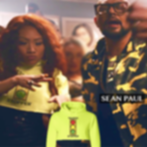 Sean Paul music video status avenue, traffic stopper crop hoodie, streetwear, athleisure, celebrity fashion, urban fashion, statement piece apparel
