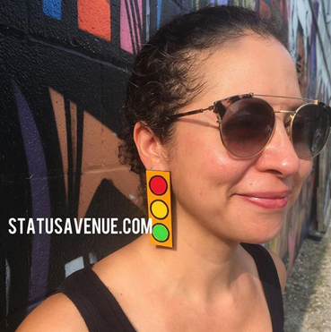 STATUS AVENUE™ Traffic Stopper™ golden yellow earrings