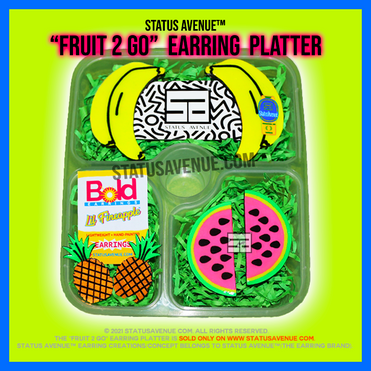 STATUS AVENUE™ FRUIT 2 GO EARRING PLATTE