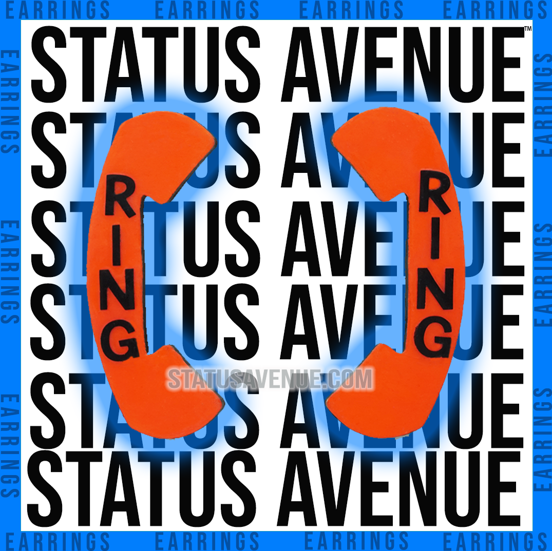 Status Avenue™ RING orange phone earring