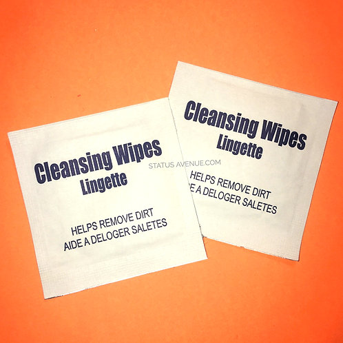 ALCOHOL WIPES (2 pcs) contains 70% alcohol