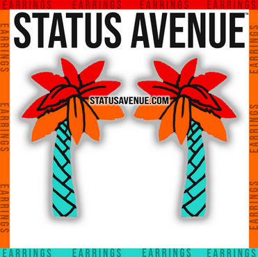 STATUS AVENUE™ palm trio earrings exotic