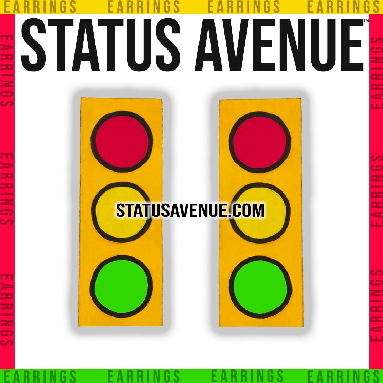 STATUS AVENUE™ Traffic Stopper™ golden yellow earrings
